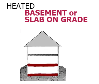 SLAB ON GRAD or BASEMENT CONCRETE - Radiant Heat