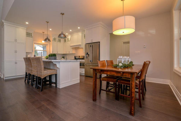 Wide Plank Grey Hardwood Flooring