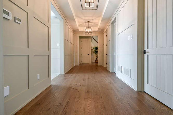 Wide Plank Presquile Brown Hardwood Flooring