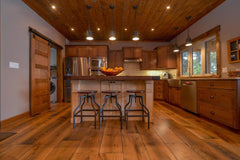 Hardwood flooring in a two toned finish