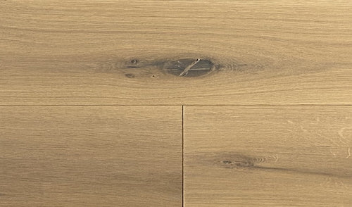 Wide Plank White Oak Hardwood Flooring Bare