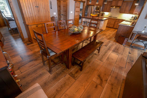 Wide Plank White Oak Hardwood Flooring Natural 1850 Distressed -  - 24