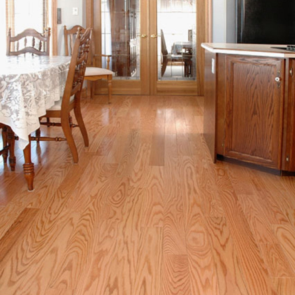 Red oak natural hardwood flooring gaylord flooring for Natural oak wood flooring