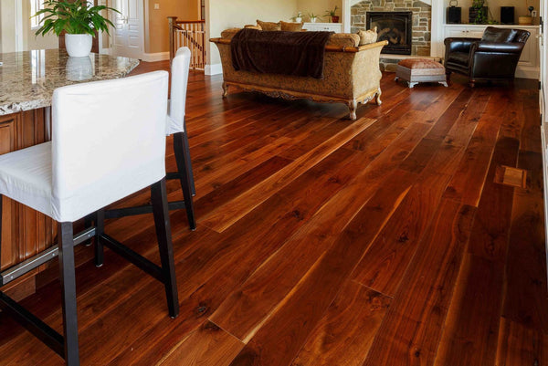 Wide Plank Natural Walnut Hardwood Flooring