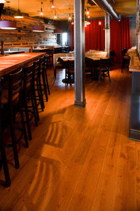 Wide Plank White Oak Hardwood Flooring Cognac Distressed -  - 6
