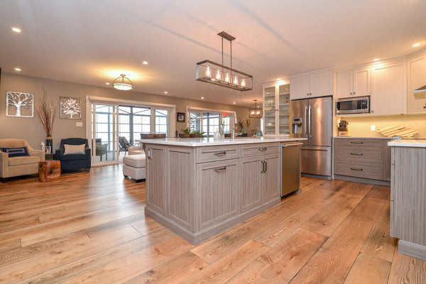 Wide Plank White Oak Hardwood Flooring Natural 1850 Distressed -  - 54