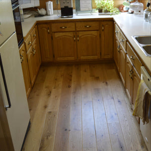 Wide Plank White Oak Hardwood Flooring Natural Distressed -  - 8