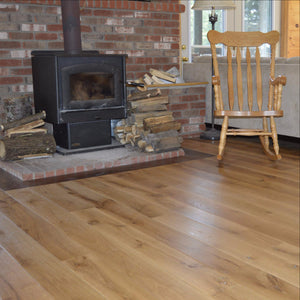 Wide Plank White Oak Hardwood Flooring Natural Distressed -  - 6