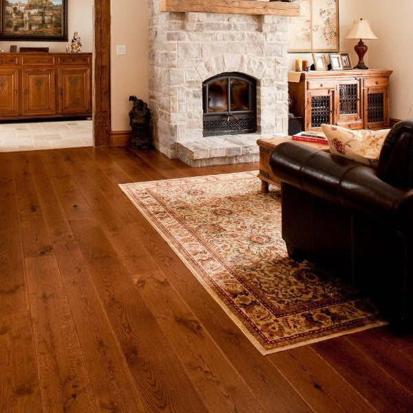 Wide Plank White Oak Hardwood Flooring Russet Distressed -  - 3