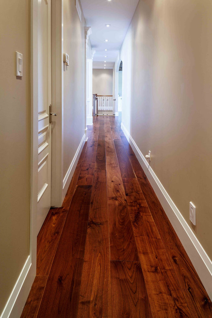 Wide Plank Walnut Hardwood Flooring Part - 37: Wide Plank Walnut Through Main Hallway
