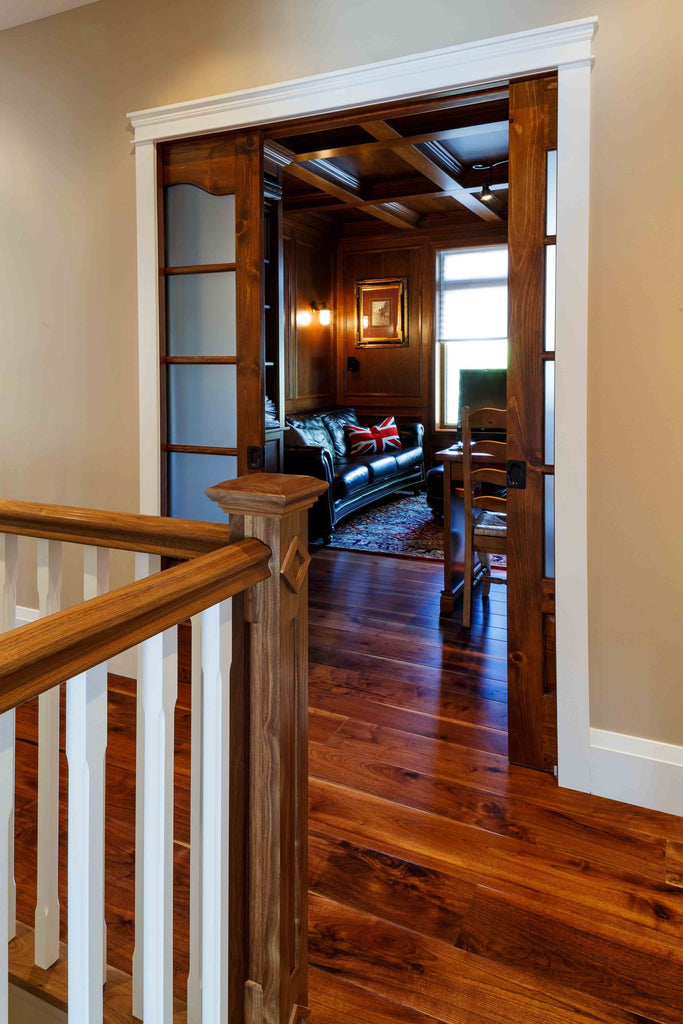 Wide Plank Walnut Hardwood Flooring Part - 29: Sophisticated Study With Wide Plank Walnut Flooring