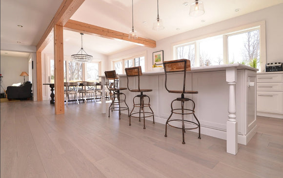 Hickory Bleached Hardwood Flooring Gallery