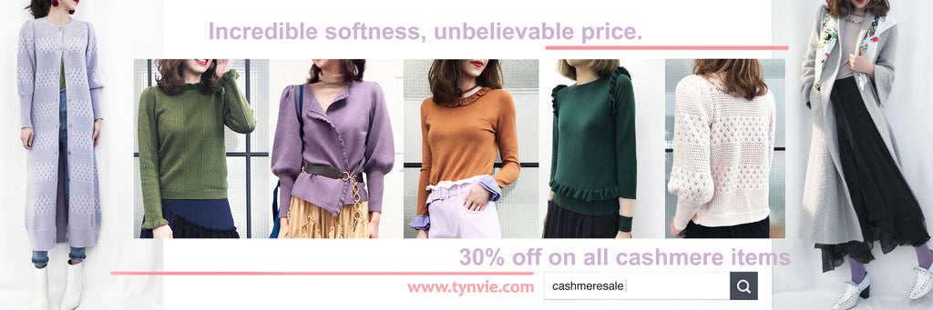 Woohoo! It's a prefect spring time to stay with TYNVIE CASHMERE.