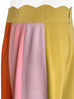 TYNVIE Signature! Scalloped Waist Colour Blocking Wide Leg Trousers