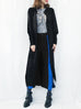 Cashmere Sale! Black Mixed Stitches Cashmere Blended Longline Cardigan