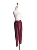 Surprise Sale! Burgundy Pinstripe Ruffle Waist Taper Trousers