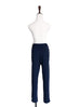 Surprise Sale! Navy With Ivory Ruffle Waist Taper Trousers