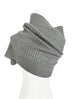 Stone Grey Angora Wool Blend Ruffle Neck Warmer Cape