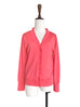 Last Chance! Carol Pink Double V-Neck Frill Detail Cashmere Blend Cardigan Top