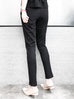 Surprise Sale! Classy Black Scalloped Pocket Zip Detail Stretch Slim Trousers