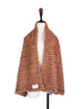 Further Sale! Textured Cotton Wool Blended Poncho Scarf