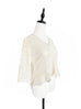 Further Sale! Ivory-White Floral Lace Cropped Peplum Blouse