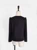 Further Sale! Black Collarless Woollen Jacket