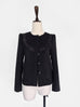 Final Sale! Black Collarless Woollen Jacket