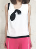 Further Sale! Mono White-Black Bow Top