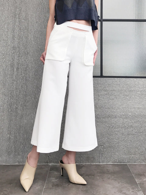 Final Sale! Purely White Split Waisting Culottes
