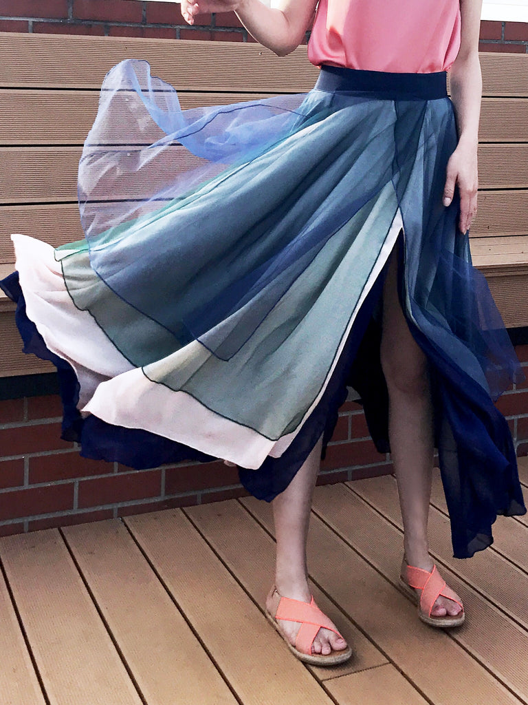 Romantic Classic! Layer Coloured Tulle Maxi Skirt
