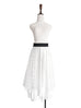 Surprise Sale! Layer Textured White Tulle Maxi Skirt