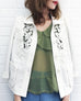 Further Sale! Ivory Lace Trim Textured Jacket