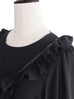 Further Sale! Black Merrow-stitch Ruffles Dolly Top