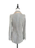 Classic Plaid Woollen Silk Blended Tailored Jacket
