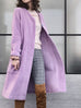 Surprise Sale! Wisteria Purple Merino Wool A-Line Coat