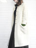 Further Sale! Ivory White Cable Knit Merino Wool A-Line Coat