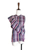Further Sale! Plaid Prints Asymmetrical Ruffles Sleeveless Silky Blouse
