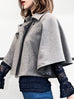 Further Sale! Iconic Grey Wool Blend Cape