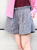 Further Sale! Lilac Floral Lace Two-tone Paperbag Waist Shorts