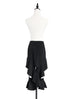 Surprise Sale! Classic Contemporary Black Ruffled Cut-out Skirt