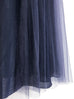 Last Chance! Purplish Navy Shades Tonal Layer Tulle Chiffon Maxi Skirt