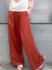 Preorder! Bronze Orange Pinstripe Lustrous Wide Leg Trousers