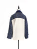 Surprise Sale! Navy Blue Mix Media Relaxed Shirt Jacket