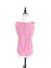 Pink Stitched Trim Empire Waist Silk Tank
