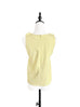Light Yellow Stitched Trim Empire Waist Silk Tank