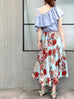 Tropic Blossoms Print Breezy Circle Skirt