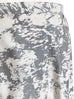 Ivory Metallic Abstract Print Breezy Circle Skirt
