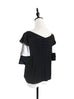 Surprise Sale! Black & White Tiered Sleeve Double V-neck Blouse