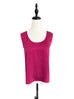Fuchsia/Pink Set-of-Two Silky Tank With Ruffe Camisole